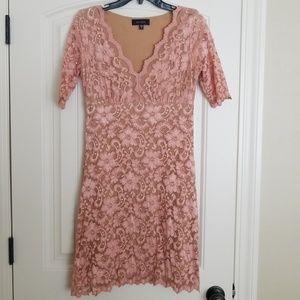 Karen Kane Blush Lace Dress